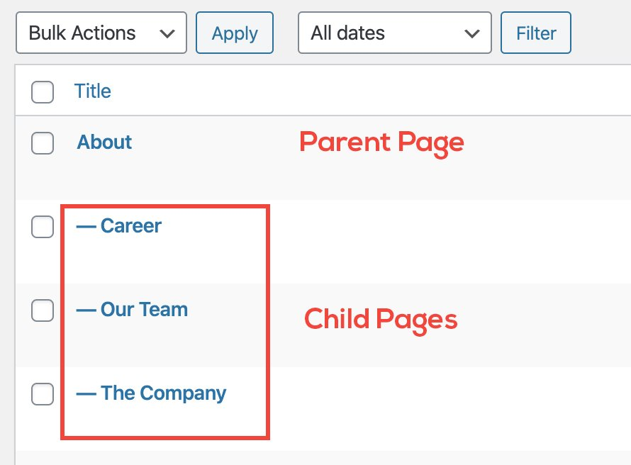 Child page