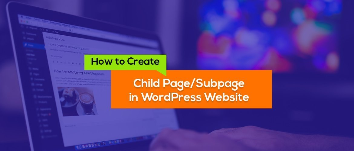 How to create child page in wordpress website