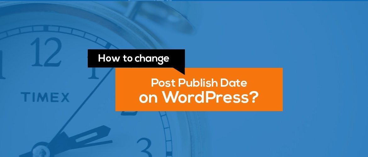 How to change published date in wordpress