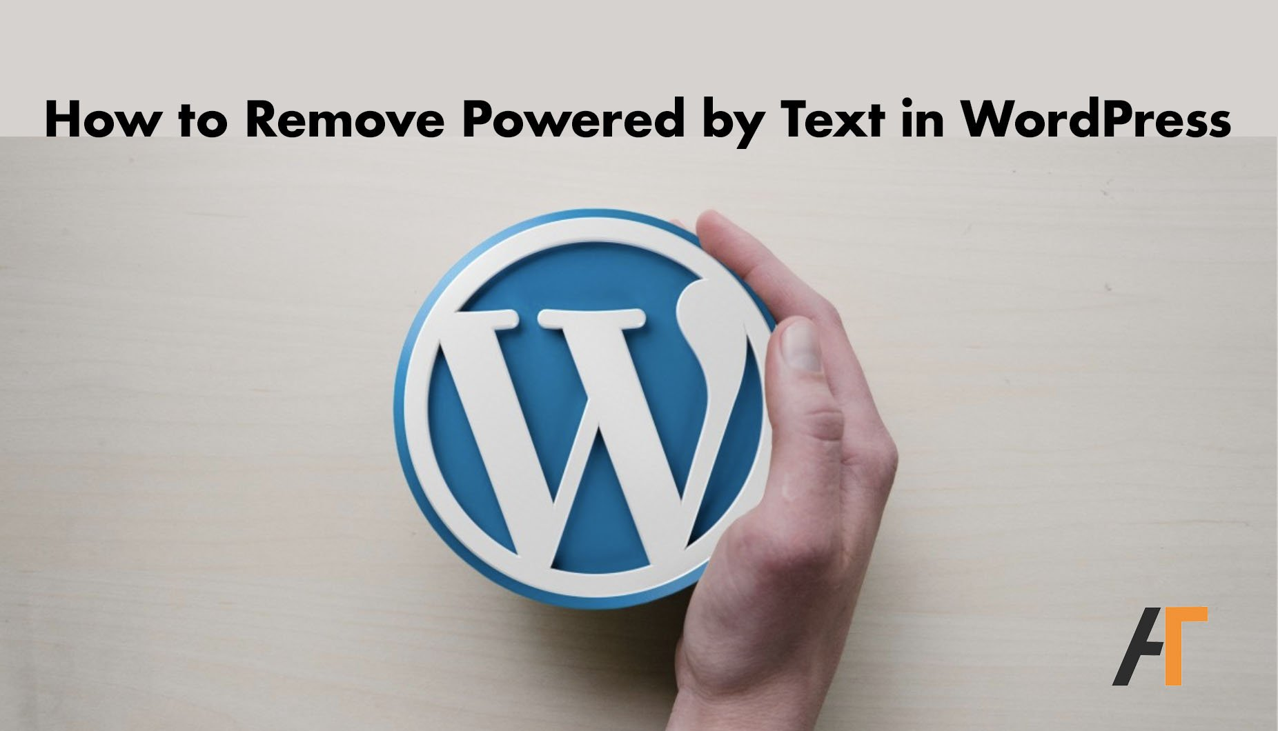 remove powered by text in wordpress