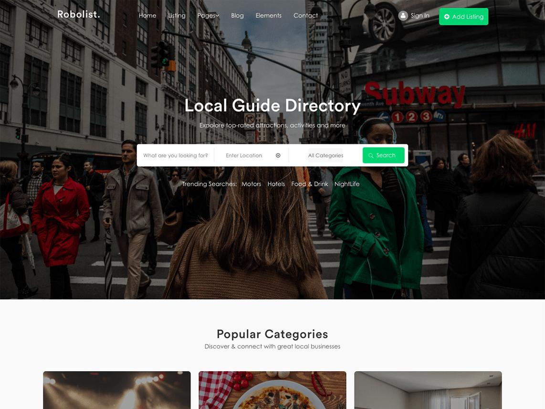 Robolist Lite-Free-directory-WordPress-theme