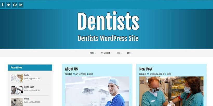 Dentists Free Medical WordPress Themes
