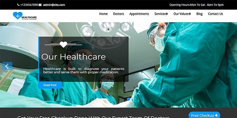 Healthcare Free Medical WordPress Themes