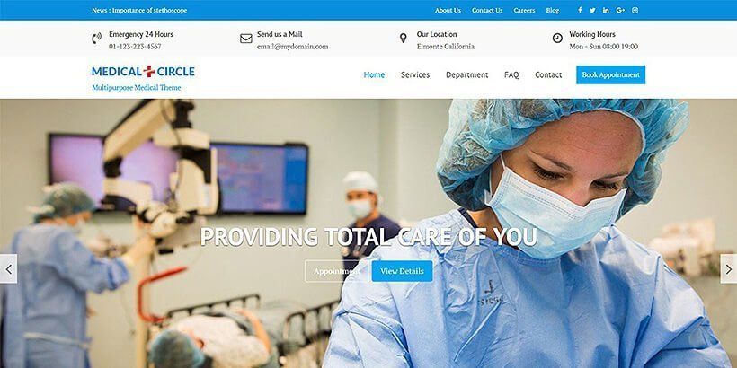 medical-free-wordpress-theme