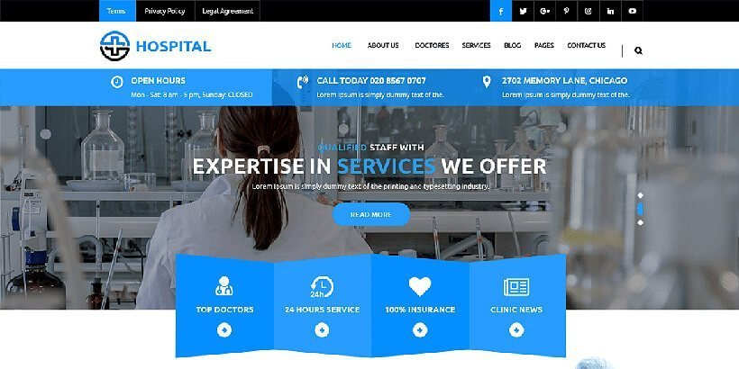 Medical Hospital Free Medical WordPress Themes