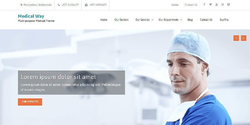 Medical Way Free Medical WordPress Themes