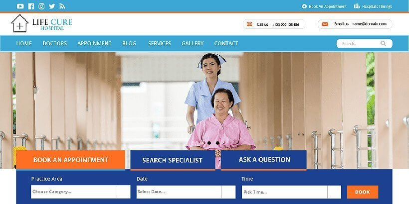 VW Hospital Lite Free Medical WordPress Themes