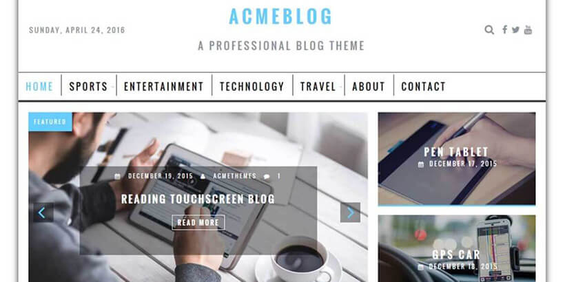 acmeblog free wordpress blog themes