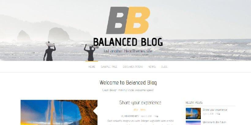 balanced blog free wordpress blog themes