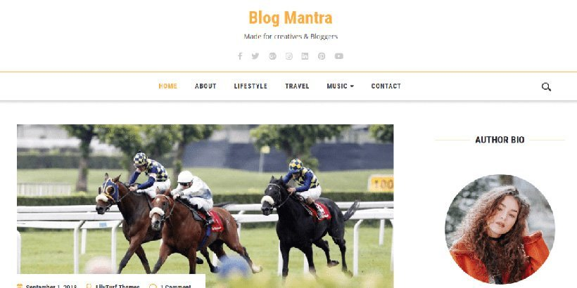blogmantra free wordpress blog themes