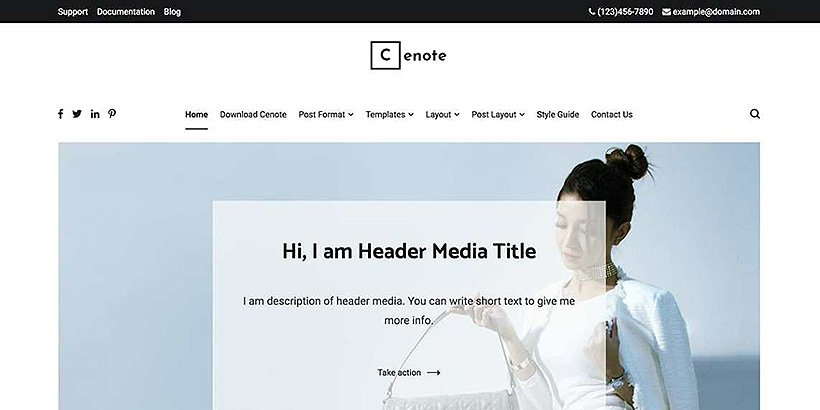 cenote free wordpress blog themes