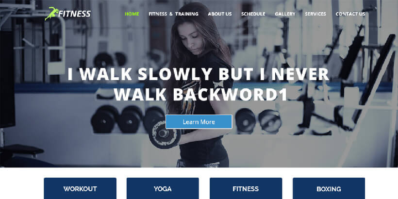 fitness free gym fitness wordpress themes