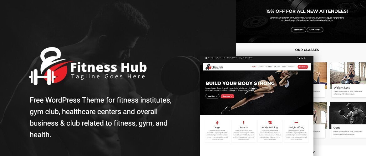 fitness hub trending fitness wordpress theme