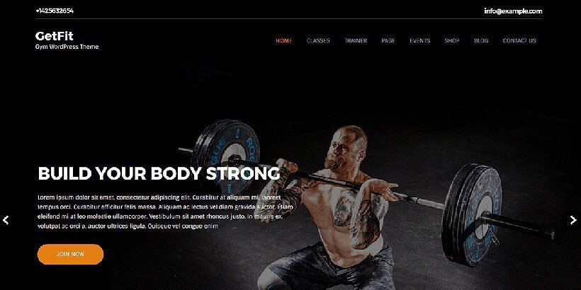 getfit free fitness wordpress themes
