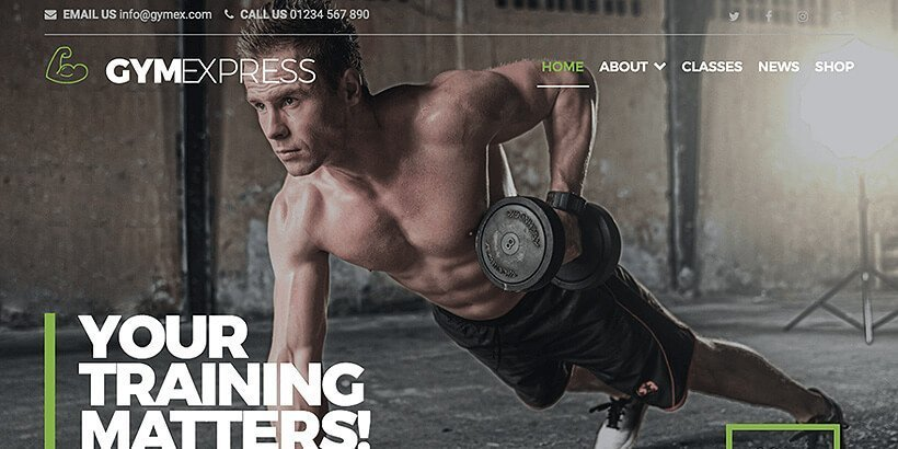 gymexpress free fitness wordpress themes