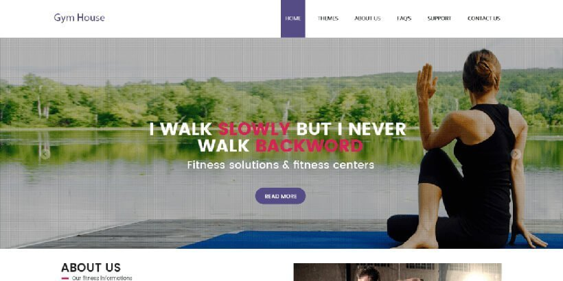 gymhouse free fitness wordpress themes