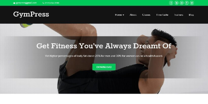 gympress free fitness wordpress themes