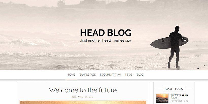 headblog free wordpress blog themes