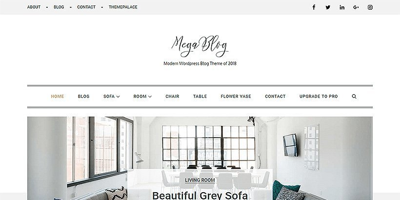 mega free wordpress blog themes