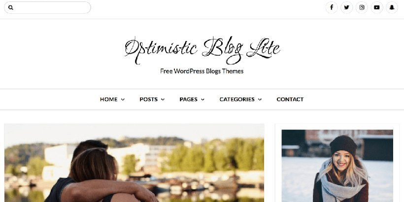 optimistic free wordpress blog themes