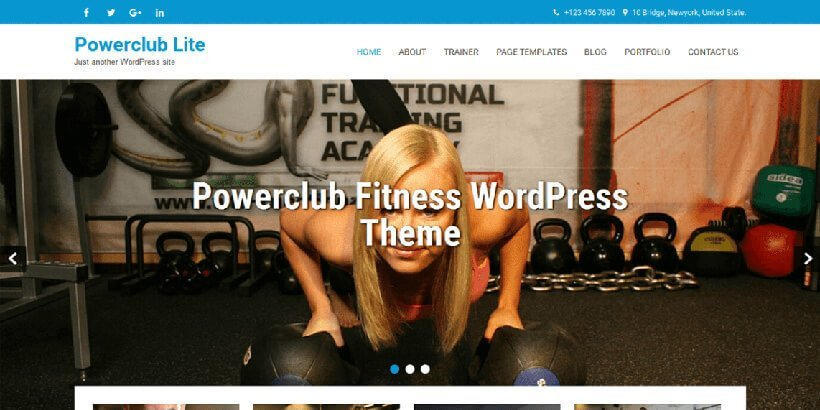 powerclub lite free gym fitness wordpress themes
