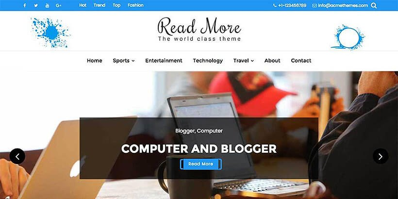 readmore free wordpress blog themes