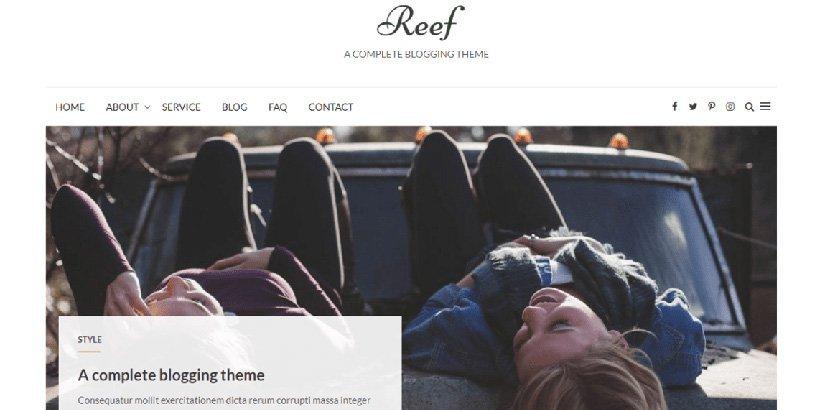reef free wordpress blog themes