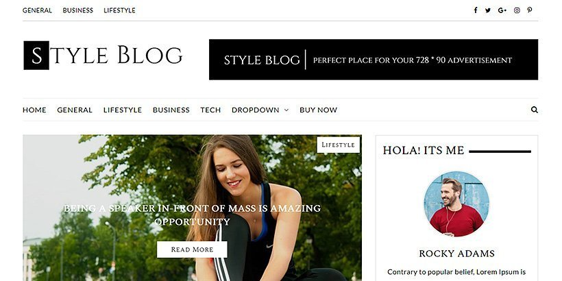 style free wordpress blog themes