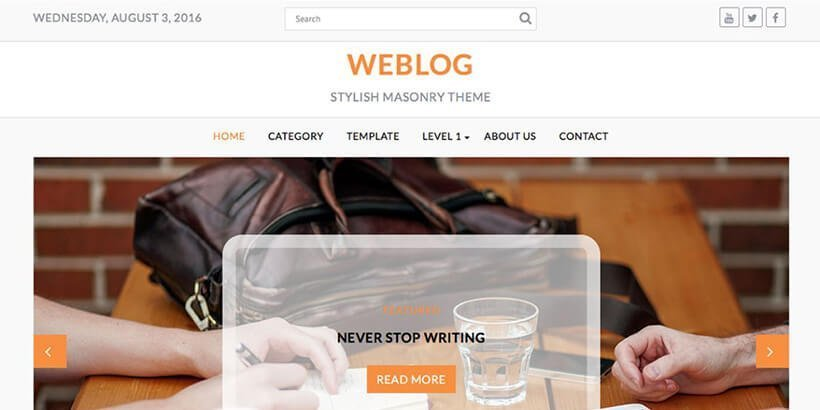 weblog free wordpress blog themes