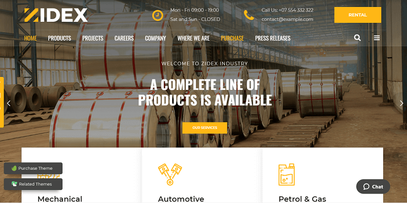 zidex-factory-construction-wordpress-theme