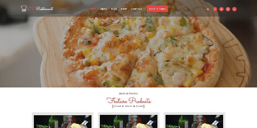 Izrestaurant free restaurant wordpress themes