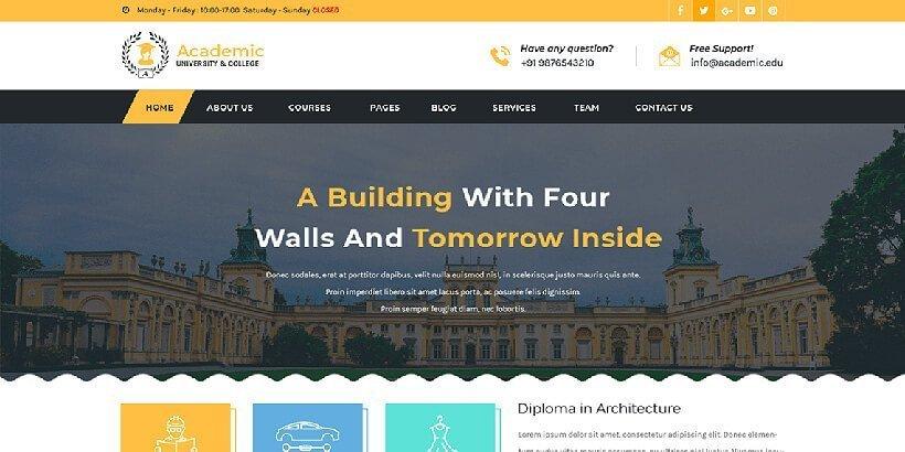 academicedu free education wordpress themes