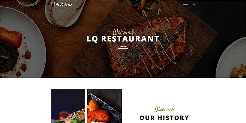alger free restaurant wordpress themes