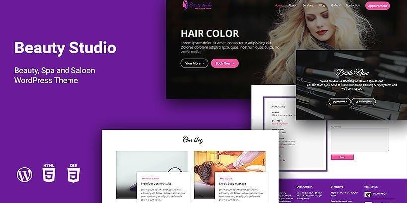 beautystudio free wordpress business themes
