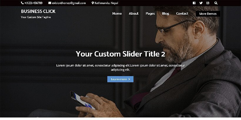 business click free wordpress business themes