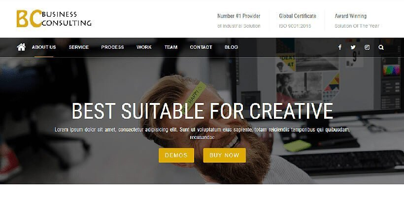 business consulting free wordpress business themes