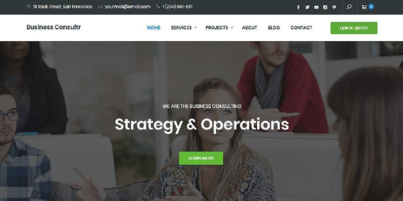 business consultr free wordpress business themes
