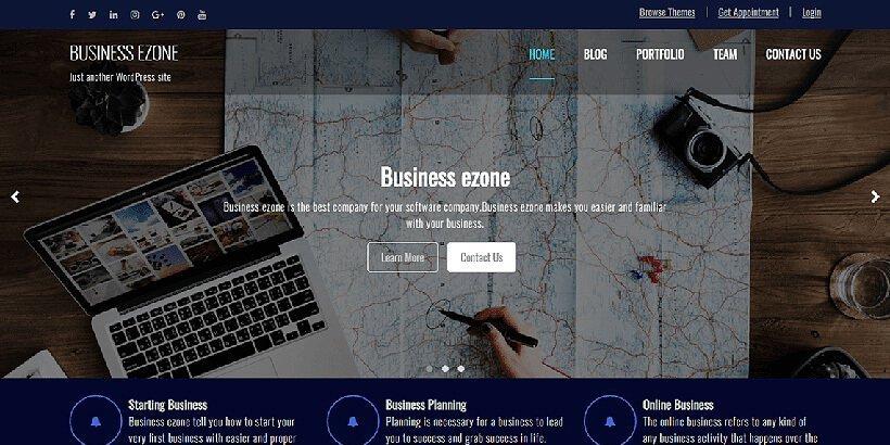 business ezone free wordpress business themes