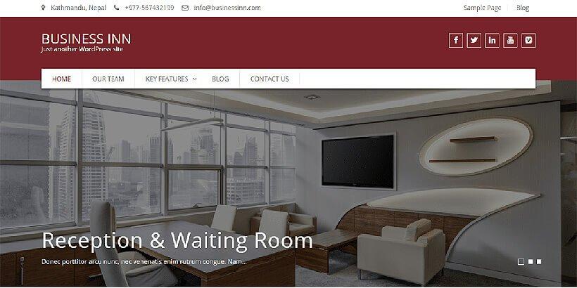 business inn free wordpress business themes