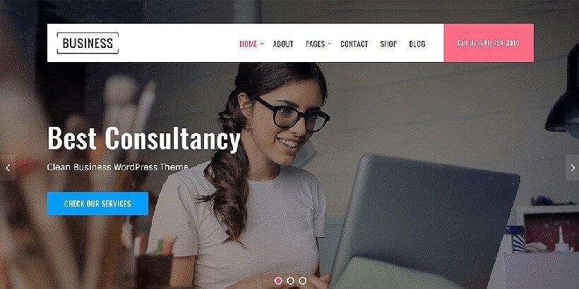 business key free wordpress business themes