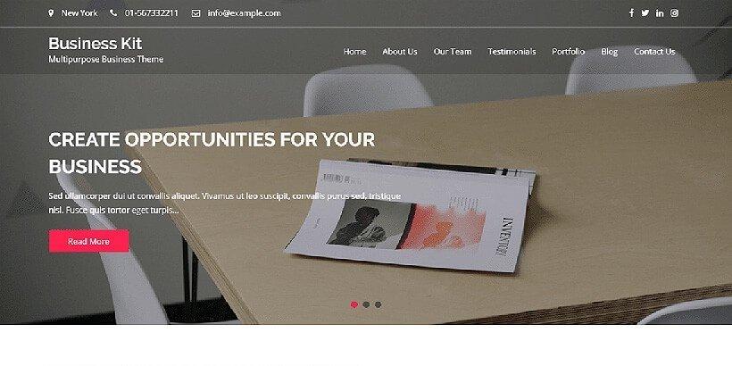 business kit free wordpress business themes