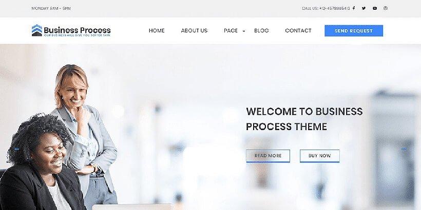 business process free wordpress business themes