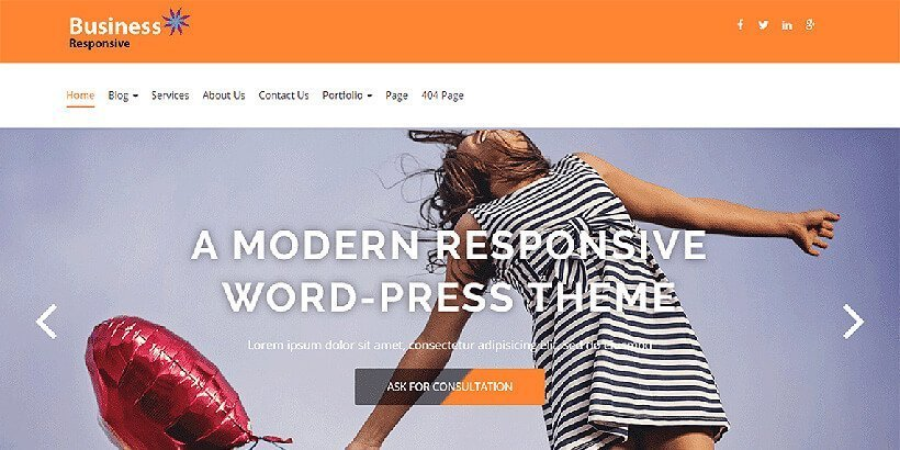 business responsive free wordpress business themes