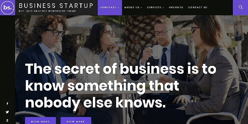 business startup free wordpress business themes