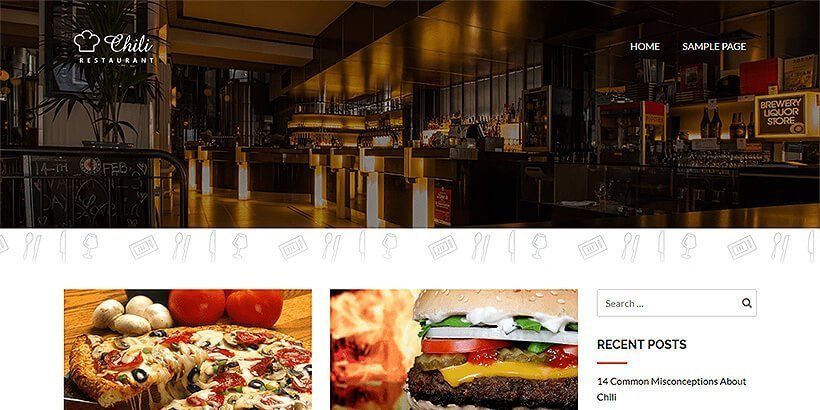 chili lite free restaurant wordpress themes