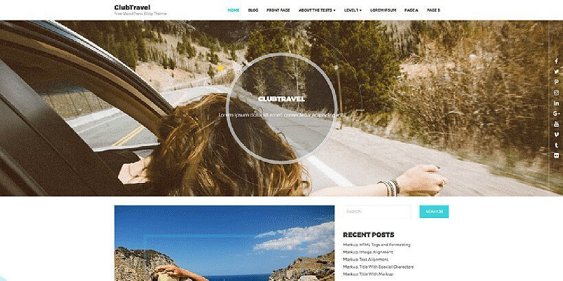 clubtravel free wordpress travel themes