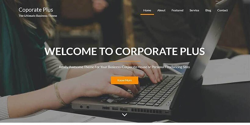 corporate plus free wordpress travel themes