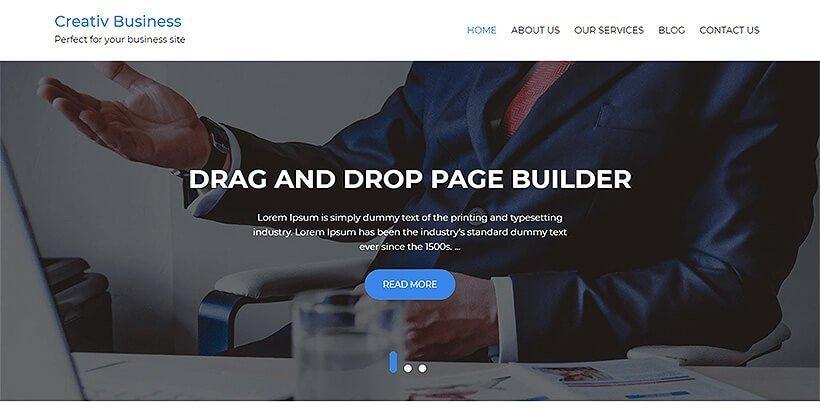 creativ business free wordpress business themes