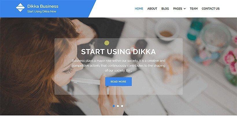 dikka business free wordpress business themes