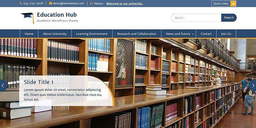 educationhub free education wordpress themes